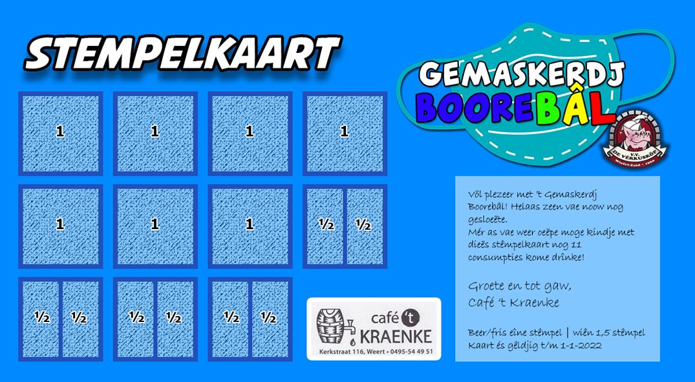 Stempelkaart Gemaskerdj BooreBâl
